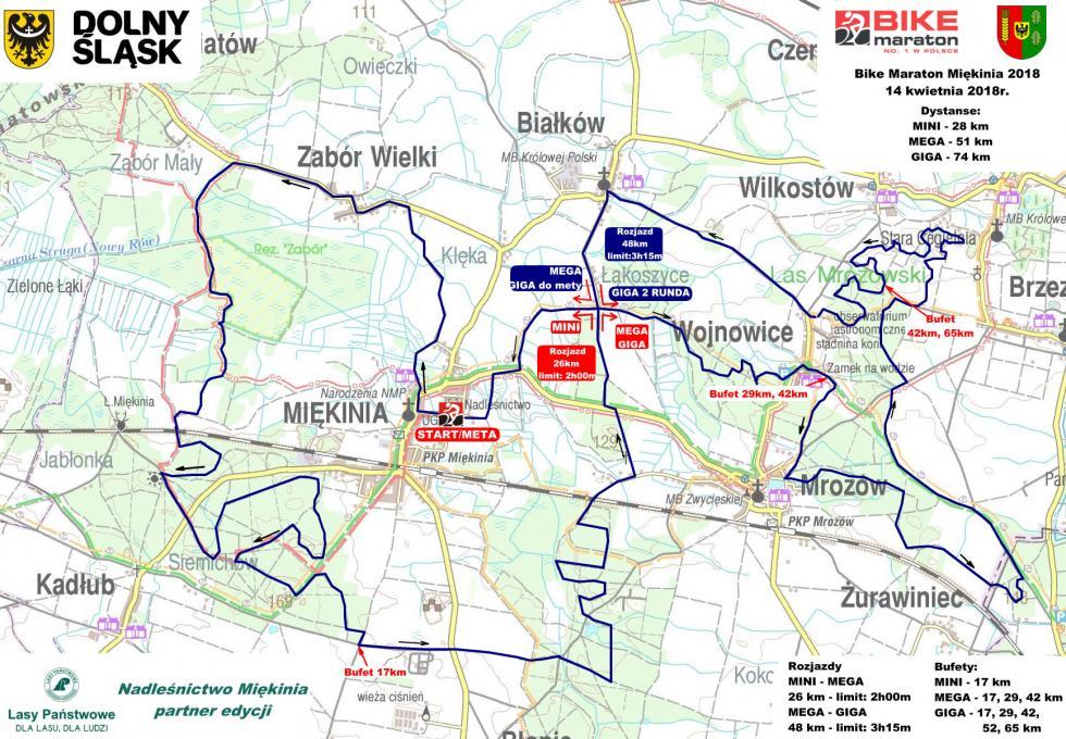 Kierunek Miękinia. 14 kwietnia zaczynamy Bike Maraton