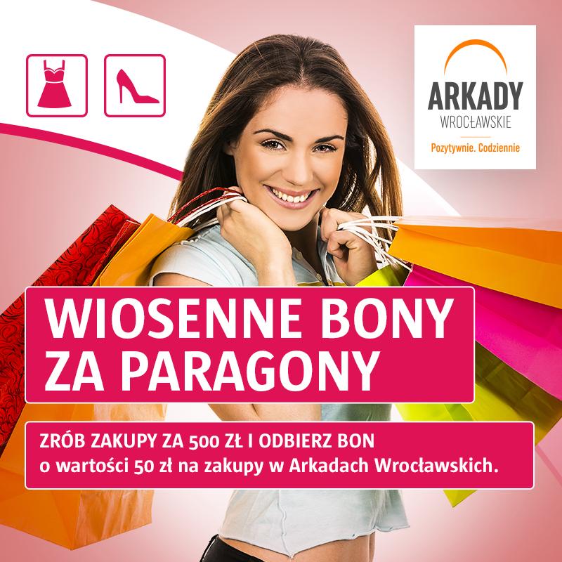Majowa promocja paragonowa wArkadach Wrocławskich