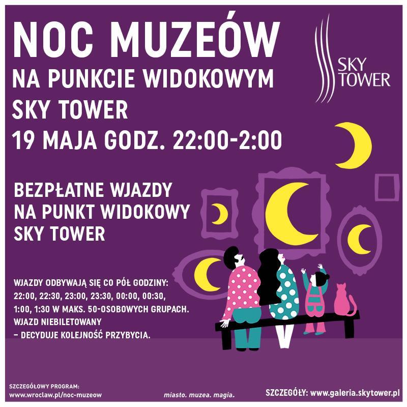 Noc Muzeów na Punkcie Widokowym Sky Tower