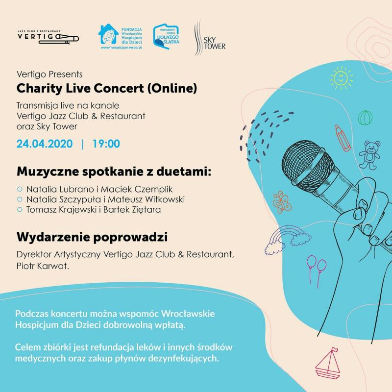 #zostańwdomu ze Sky Tower iweź udział wVertigo Presents: Charity Live Concert